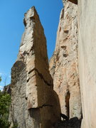 Rock Climbing Photo: Stargate Tower.  Two moderate and fun lines to rea...