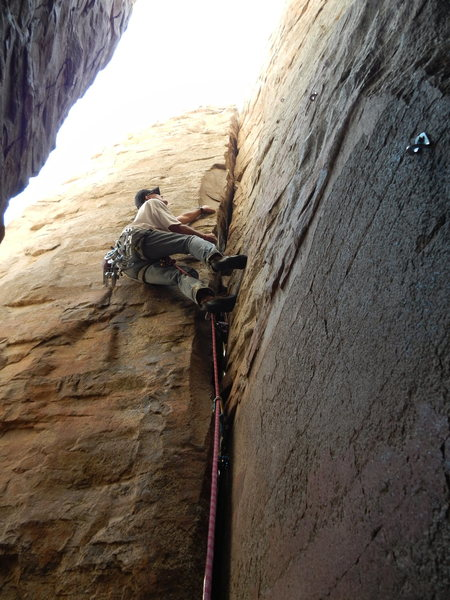 Rock Climbing Photo: Fun OW especially if you lieback!