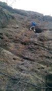 Rock Climbing Photo: First outdoor climb of 14'