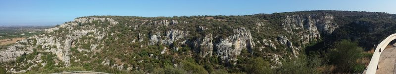 Rock Climbing Photo: The overlook at the canyon along the road.  A guar...