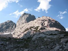 Rock Climbing Photo: Approach/Descent beta photo.  Follows trail and ob...