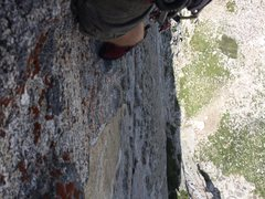 Rock Climbing Photo: The exposure is awesome; at the final bolt just be...