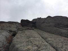 Rock Climbing Photo: Crux is pulling the 2nd overhang and moving up to ...