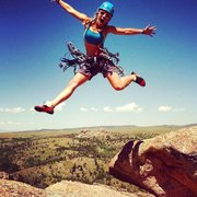 Rock Climbing Photo: Beka Fritz Vedauwoo summit celebration