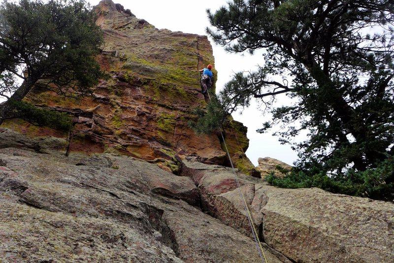 Rock Climbing Photo: East Ridge, P1.  Photo: Kuba Musial, Aug. 2014.