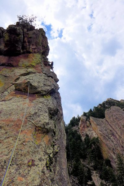 East Ridge. Kuba Musial on the exposed pitch 5.