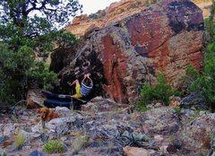 Rock Climbing Photo: Start beta of Mass Maker.