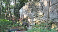 Rock Climbing Photo: Setting up for the throw from the super-cool bowli...