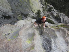 Rock Climbing Photo: Mark from Montreal finishing Spooky.