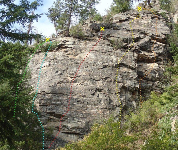 Little Pine Rock topo