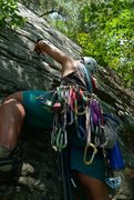 Rock Climbing Photo: me climbing at the gunks
