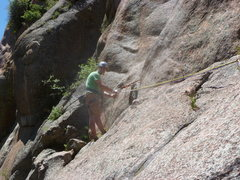 Rock Climbing Photo: At the first belay.