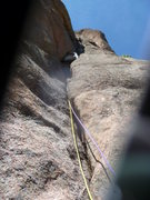 Rock Climbing Photo: At the beginning of the second pitch (camera malfu...
