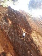 Rock Climbing Photo: Garrett Gillest, age 8, loving the climbing at Sta...
