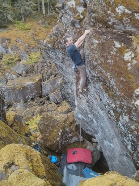 Rock Climbing Photo: Joey Jannsen snagging the second ascent. Prince of...
