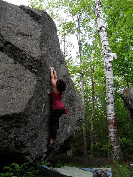 Rock Climbing Photo: Lake Placid bouldering