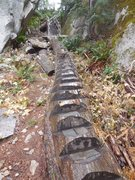 Rock Climbing Photo: Part of the adventure of getting up to Ronin's Cor...