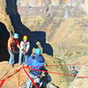 Absail down 670 ft. waterfall in Lesotho (Africa)