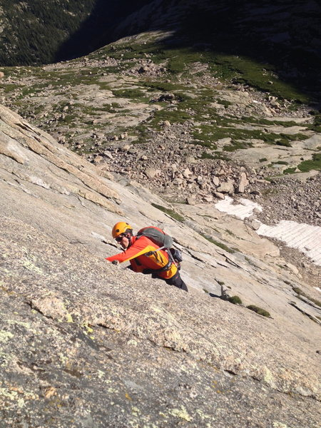 Rock Climbing Photo: Brian following the 3rd pitch.