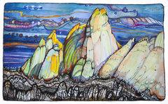 Rock Climbing Photo: pen/ink/watercolor - prints/originals at blownmind...