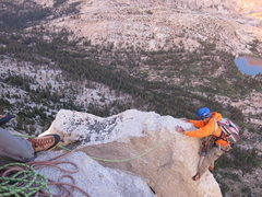 Rock Climbing Photo: The last pitch of Cathedral Peak via the Southeast...