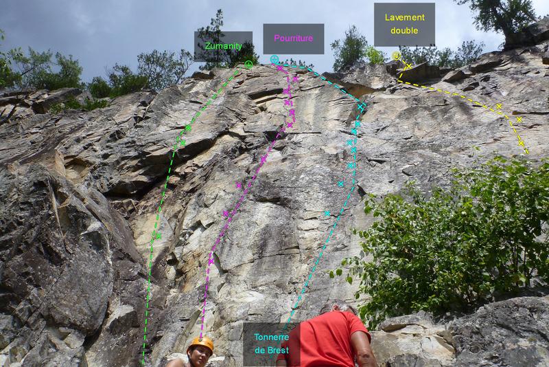 Rock Climbing Photo: Zumanity Pourriture Tonnerre de Brest