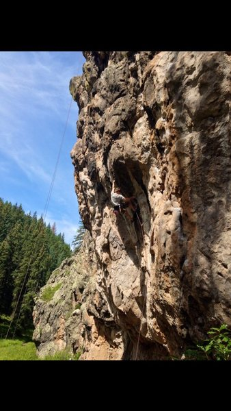 Rock Climbing Photo: Chris Ticknor making the moves!