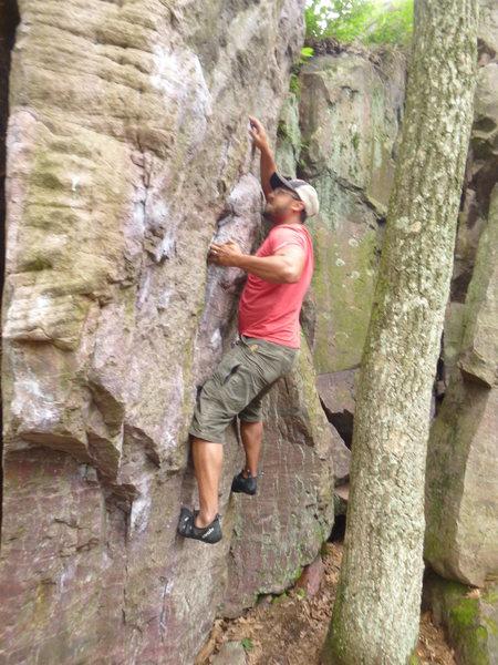 Rock Climbing Photo: just a little out reach