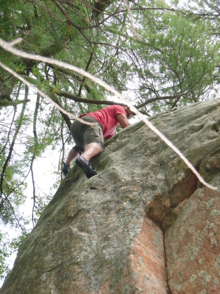 Rock Climbing Photo: possible first send?? unmarked and couldnt find it...