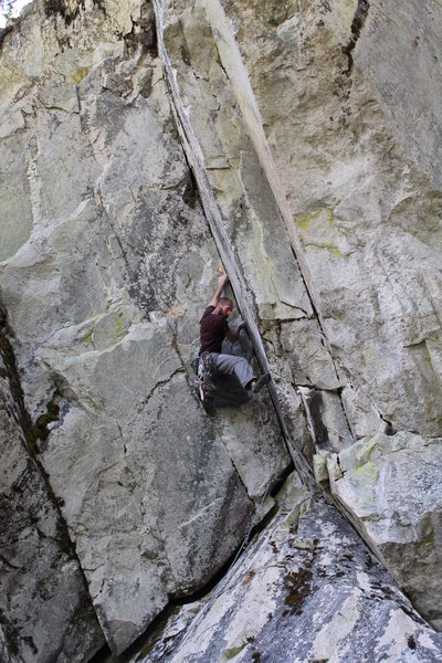 Rock Climbing Photo: Cruxin' on Zacher Cracker