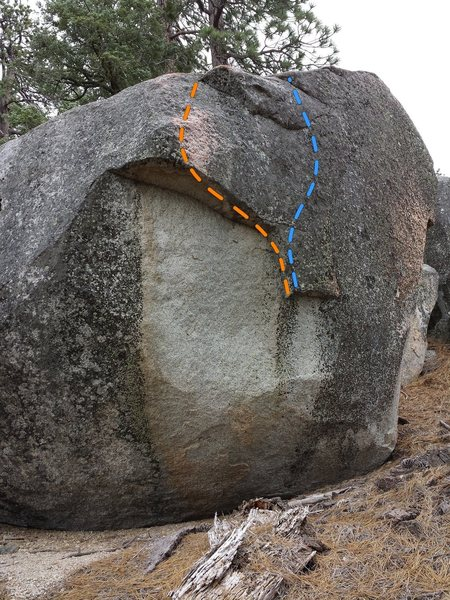 Rock Climbing Photo: Black over white.