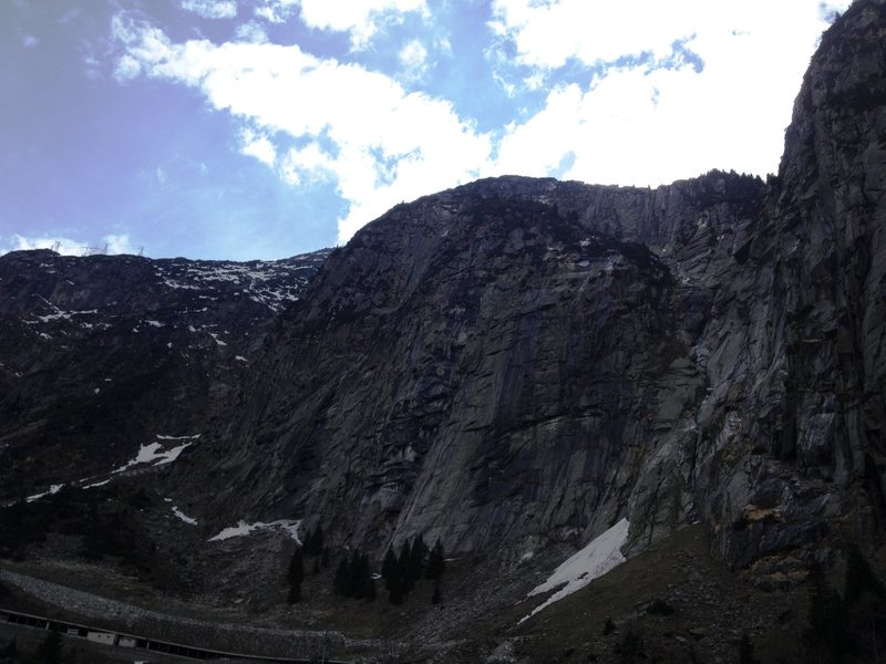Rock Climbing Photo: Schoellenen main cliff