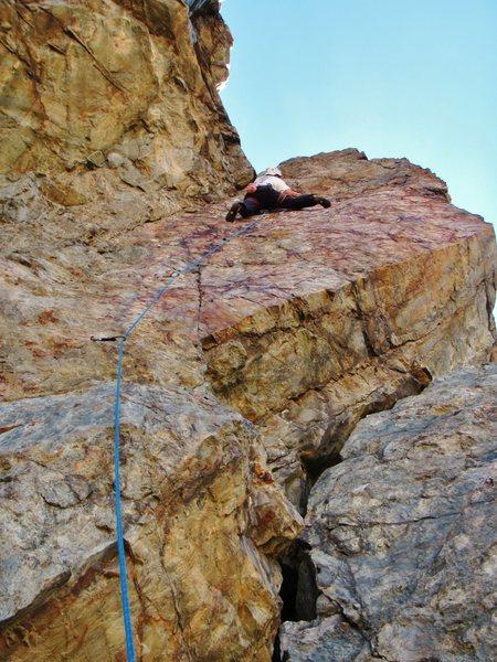 Rock Climbing Photo: KW on Rear-View.