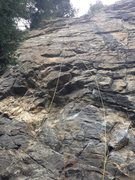 Rock Climbing Photo: The lower -- and very fun -- 5.11- sequence (bolts...