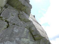 Rock Climbing Photo: Crux second pitch