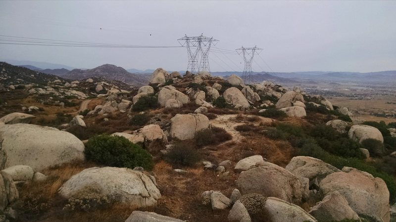 Rock Climbing Photo: Looking out towards the high voltage area