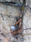 Rock Climbing Photo: The finishing corner of Pitch 1. Super fun and mor...