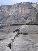 Rock Climbing Photo: Nothing but wide crack ahead! Bring extra 4 inch c...