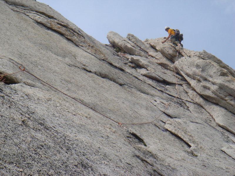 Rock Climbing Photo: Nathan leading pitch 2