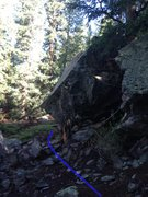 Rock Climbing Photo: View from the Hummingbird Boulders. The lines are ...