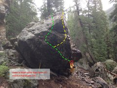 Rock Climbing Photo: Both the lines on the west face. The V3 is to the ...