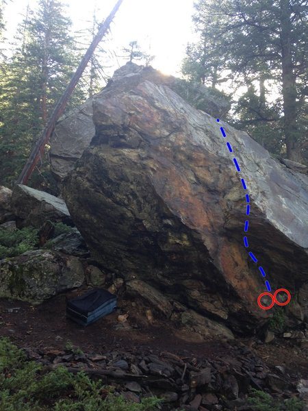 Rock Climbing Photo: The harder lines are just left of the V3.