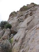Rock Climbing Photo: View up Pitch 1.