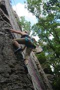 Rock Climbing Photo: Moving onto the arête