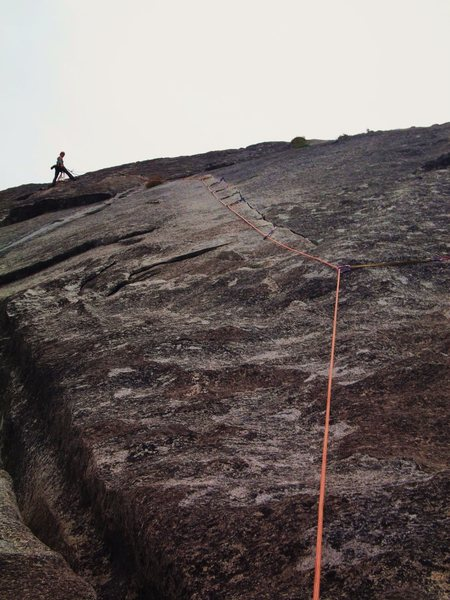 Rock Climbing Photo: the superb sustained thin finger P2