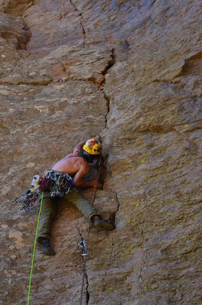 "Will Brumbaugh on the first ascent of ""This is My Jam"""
