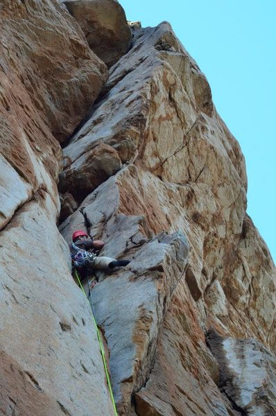 "Rock Climbing Photo: Adam Scardaci on the first ascent of ""Megalod..."