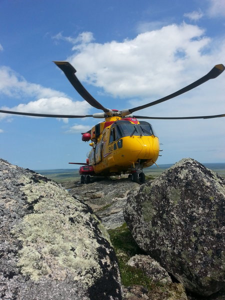CFB 9 Wing Search and Rescue on the Summit of the Main Topsail.