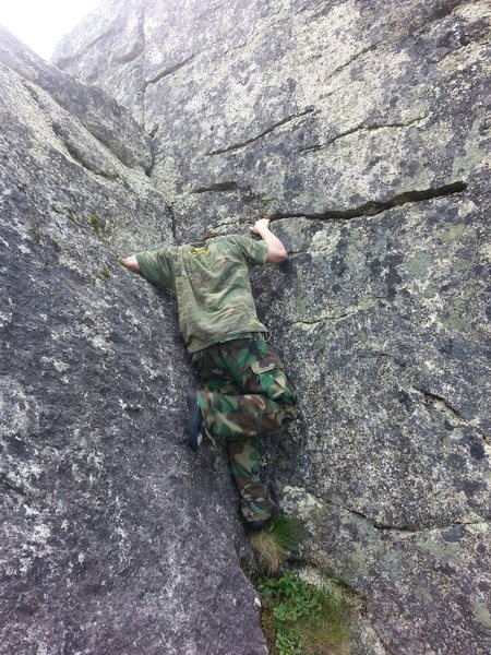 Rock Climbing Photo: Bloody Crack, its got its name, cause on my first ...