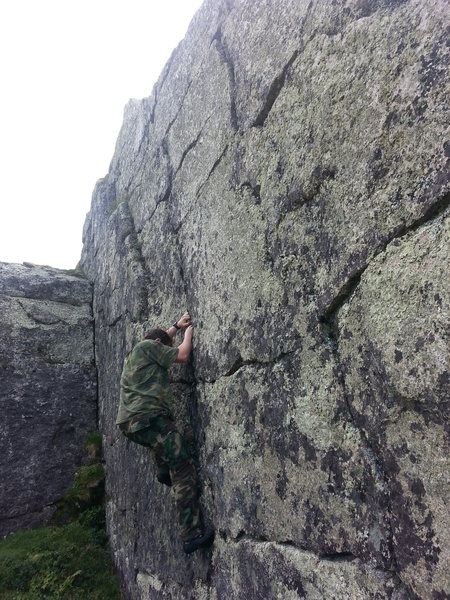 "Climbing on the route ""Search"""